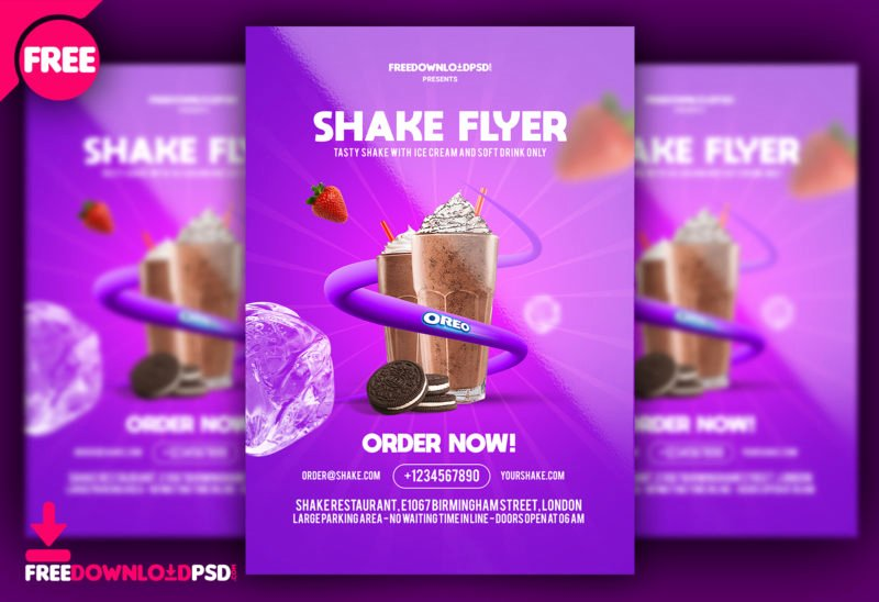 Flyer Templates Free Downloads Best Of [free] Shakes Flyer Templates Psd