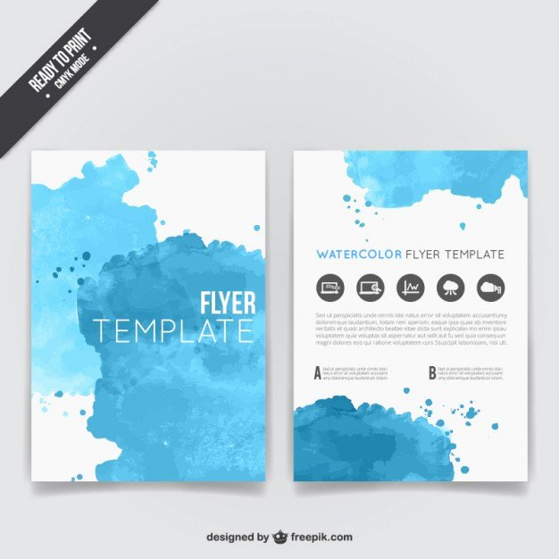 Flyer Templates Free Downloads Fresh Watercolor Flyer Template Vector