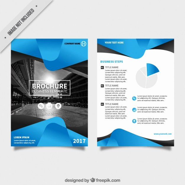 Flyer Templates Free Downloads Luxury Flyer Template with Blue Abstract forms Vector