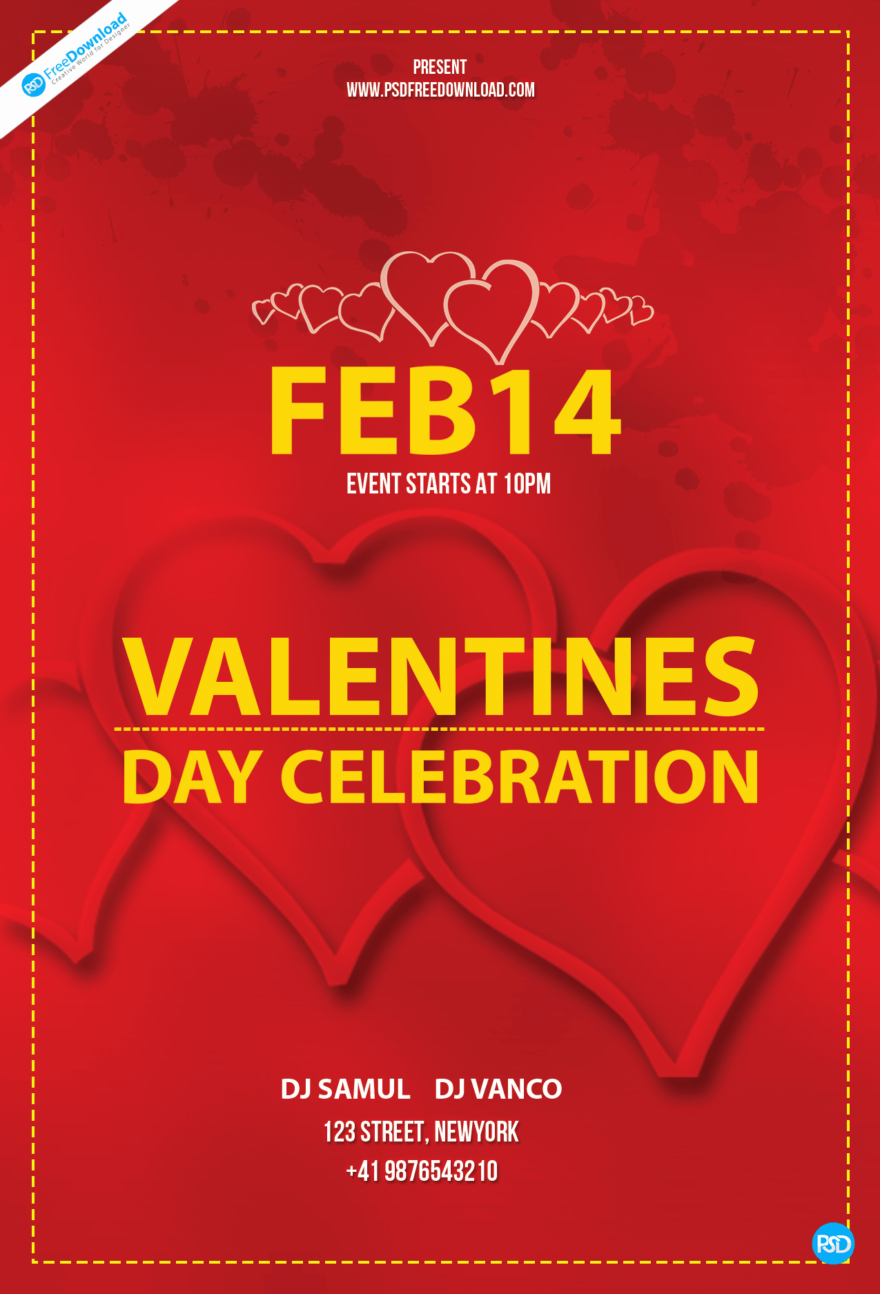 Flyer Templates Free Downloads Luxury Free Valentines Day Flyer Template