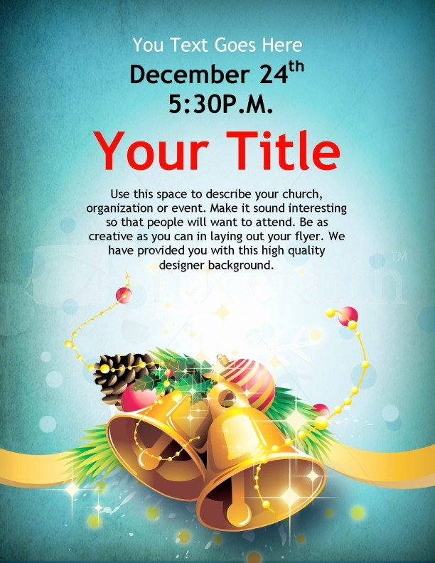 Flyers Templates Free Word Awesome Christmas Bells Flyer Template