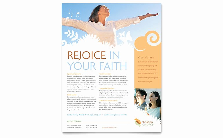 Flyers Templates Free Word Beautiful Christian Church Flyer Template Word & Publisher