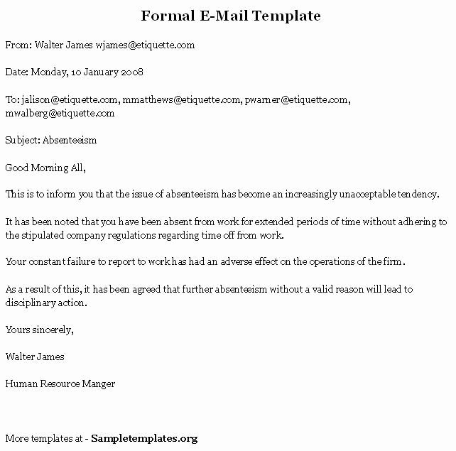 Formal E Mail Example Awesome 1000 Images About Business Documents On Pinterest