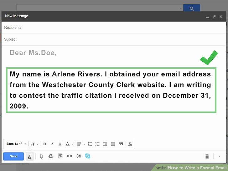 Formal E Mail Example Fresh 4 Ways to Write A formal Email Wikihow