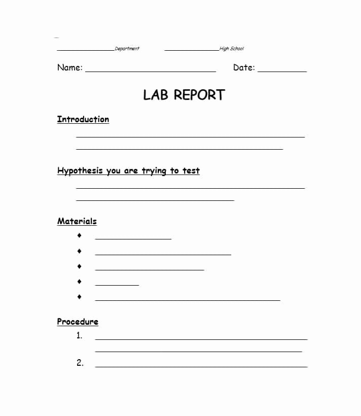 Formal Lab Report Template Elegant 40 Lab Report Templates & format Examples Template Lab
