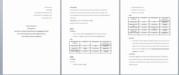 Formal Lab Report Template Inspirational How to Write A General Chemistry Lab Report 11 Steps