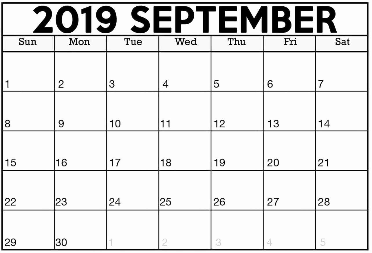 Free 2019 Calendar Template Best Of Printable Calendar September 2019 Excel Template