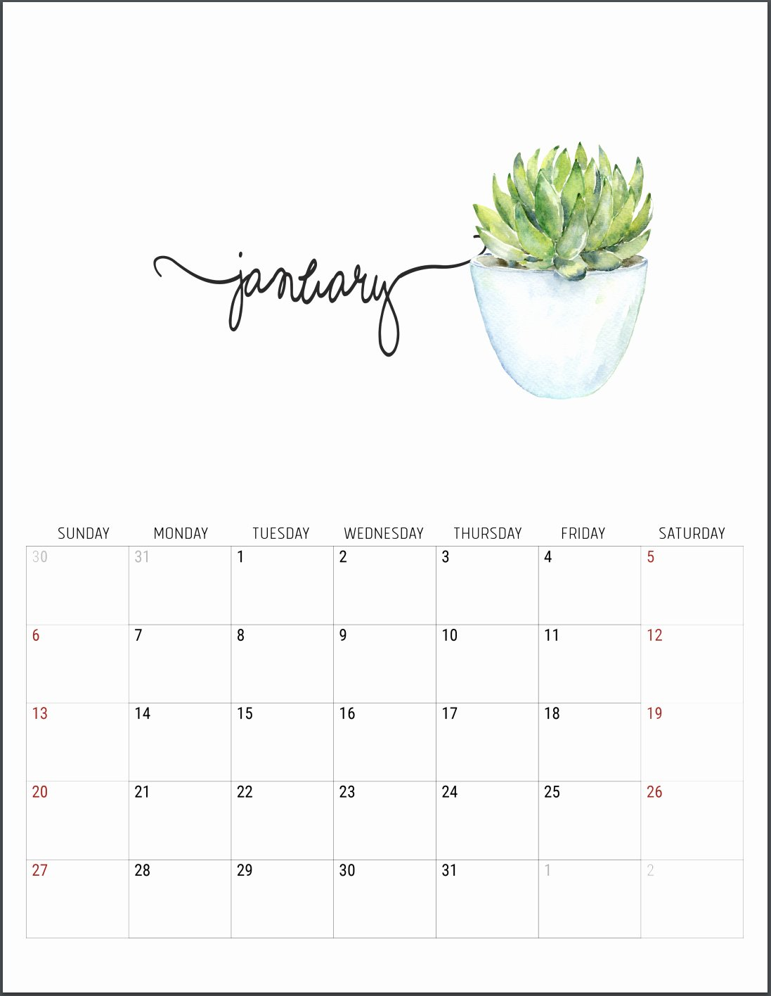 Free 2019 Calendar Template Lovely the Best 2019 Free Printable Calendar Get organized All