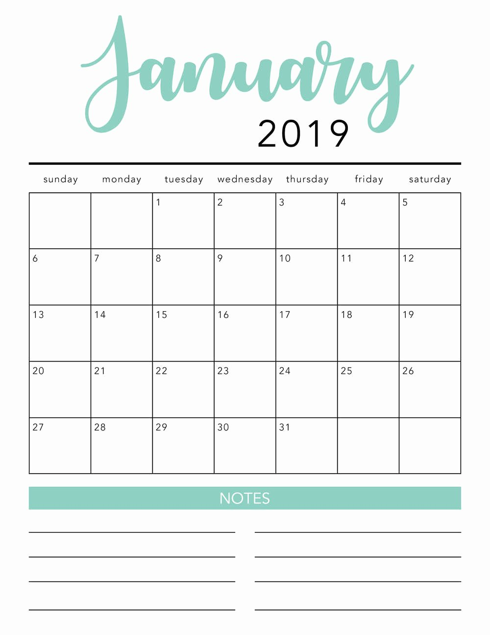 Free 2019 Calendar Template Unique Free 2019 Printable Calendar Template 2 Colors I