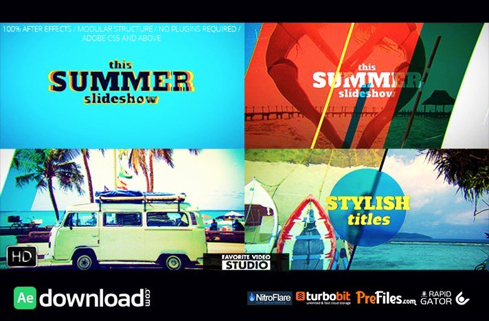 Free after Effects Slideshow Templates Lovely Favorite Summer Slideshow Videohive Free Download