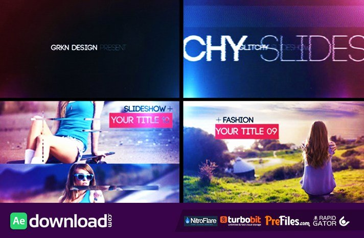 Free after Effects Slideshow Templates Luxury Glitch Slideshow Videohive Project Free Download