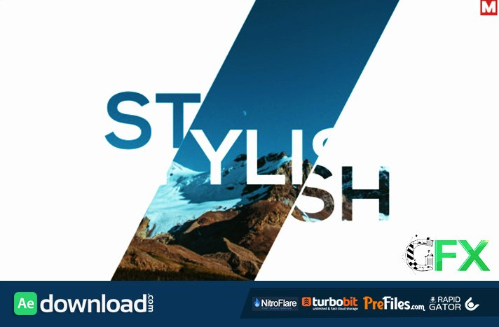 Free after Effects Slideshow Templates Unique Fast Dynamic Slideshow 2 In 1 Videohive Free Download