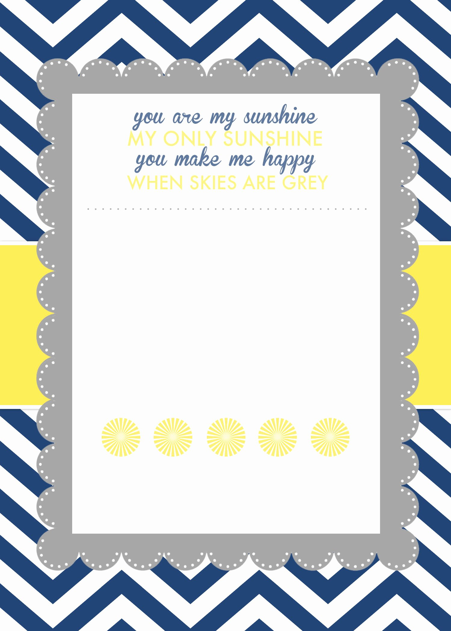 Free Baby Shower Invitation Templates Awesome You are My Sunshine Baby Shower Printables How to Nest