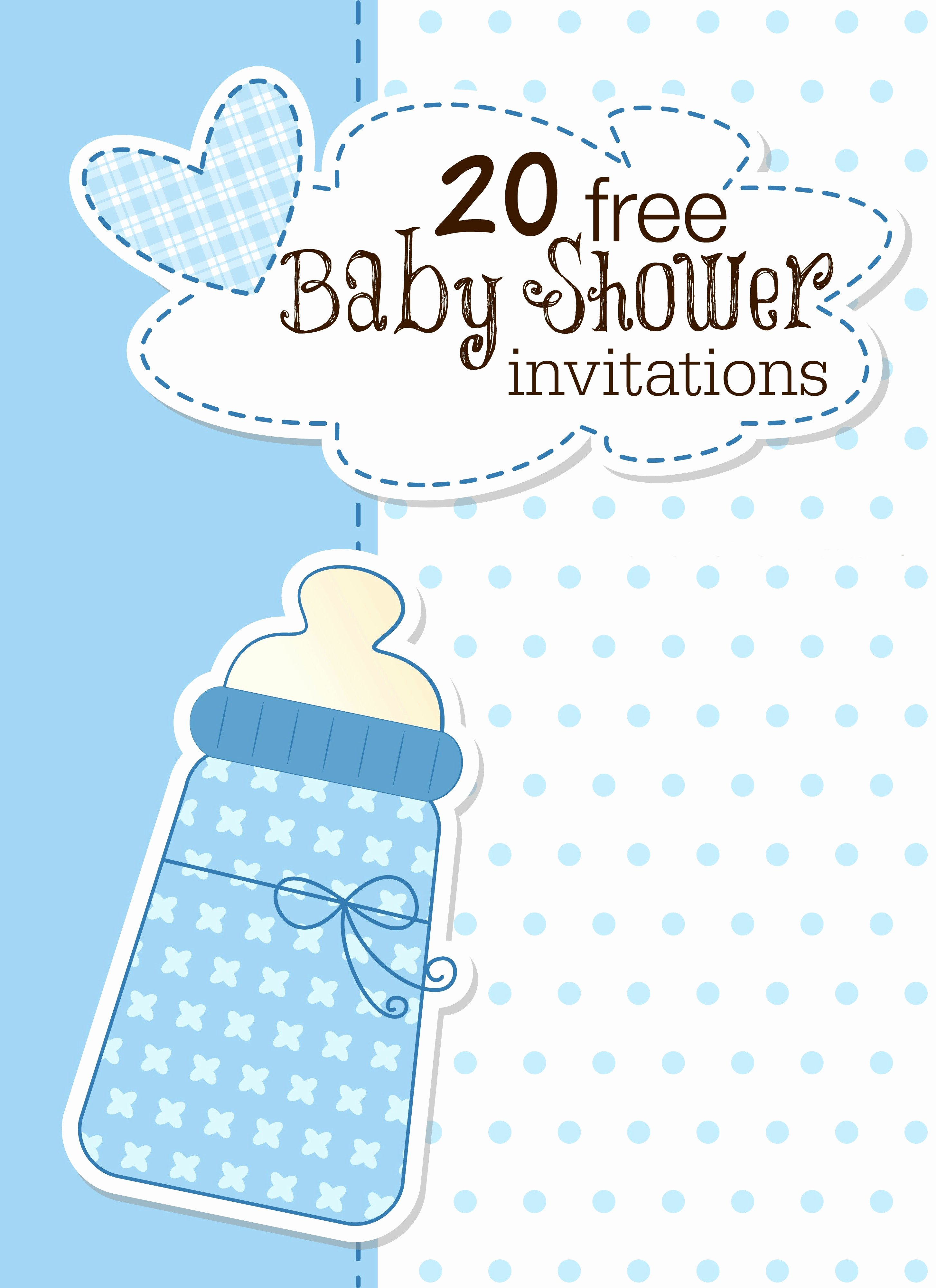 Free Baby Shower Invitation Templates Elegant Free Printable Baby Shower Templates Boy