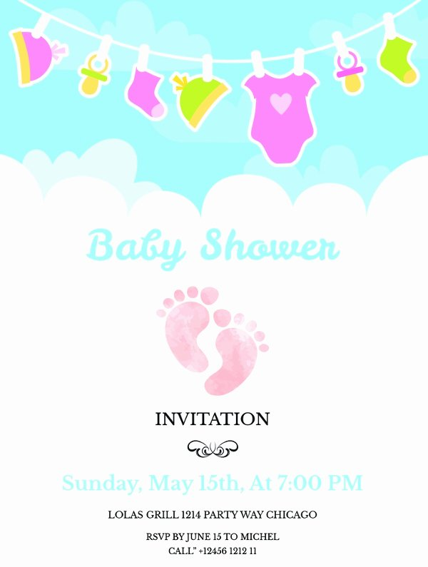 Free Baby Shower Invitation Templates Fresh 14 Free Printable Baby Shower Invitations