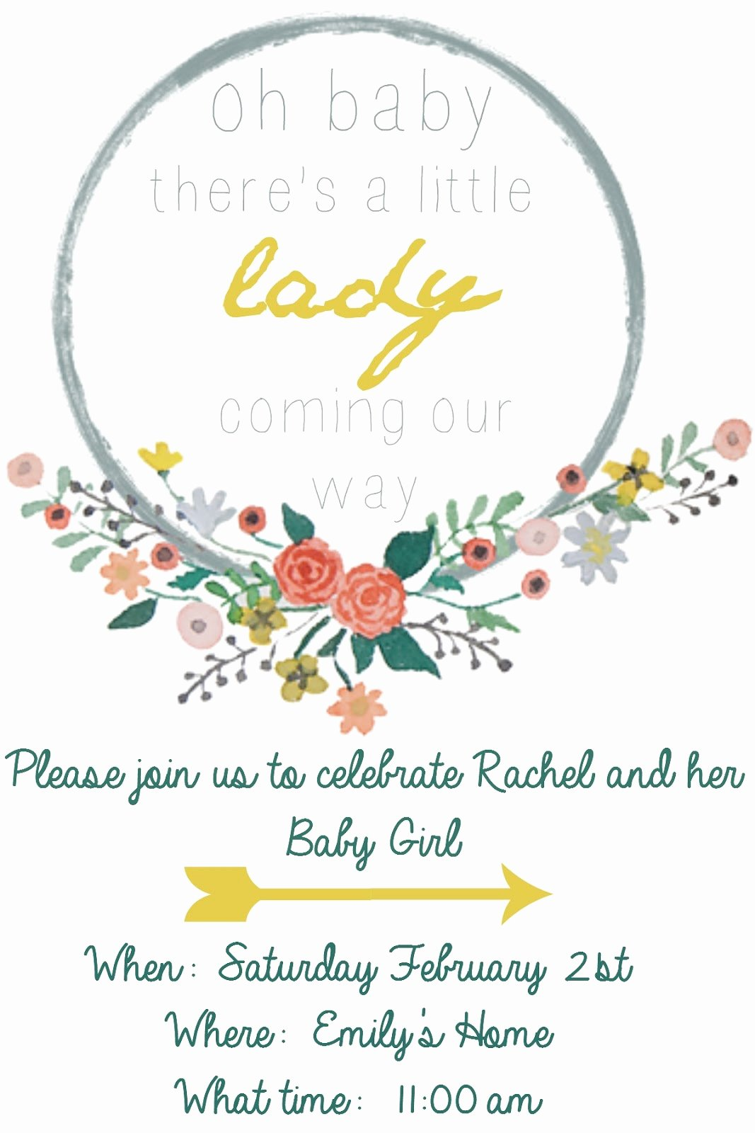 Free Baby Shower Invitation Templates Fresh Emmy In Her Element Free Baby Shower Invitation Template