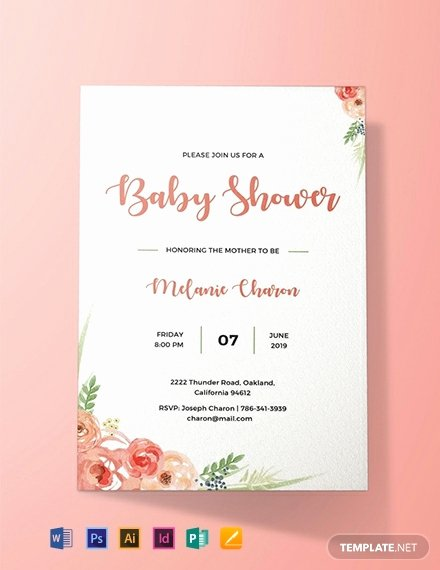 Free Baby Shower Invitation Templates New Free Baby Shower Invitation Template Word