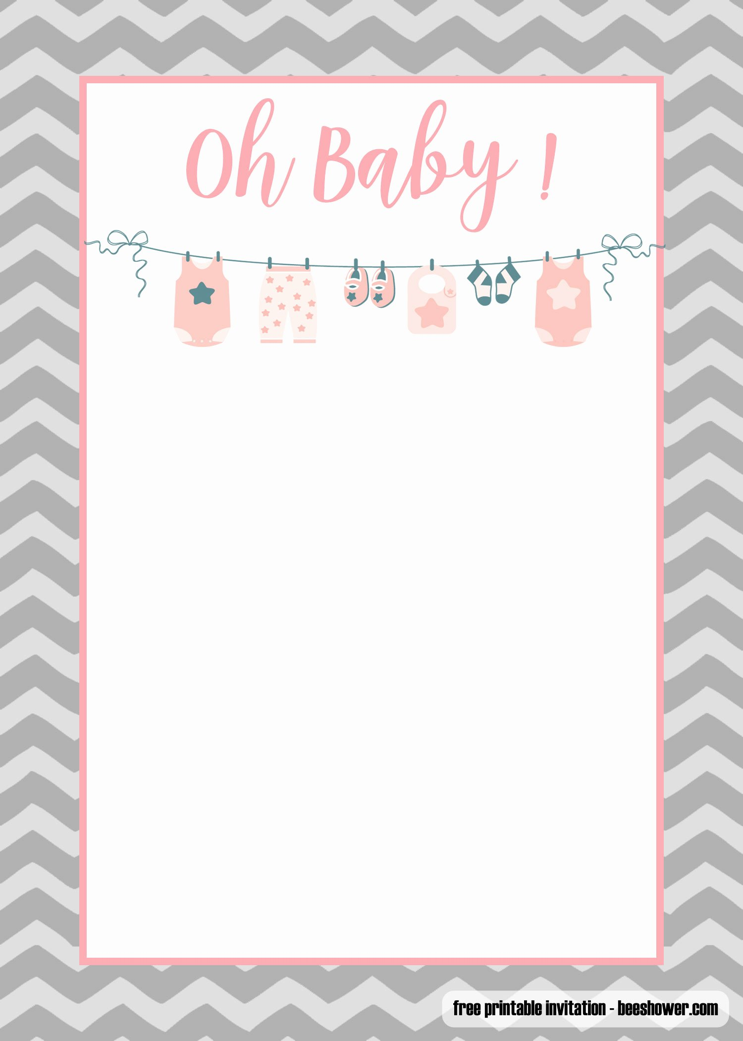 Free Baby Shower Templates Awesome Free Printable Esie Baby Shower Invitations Templates