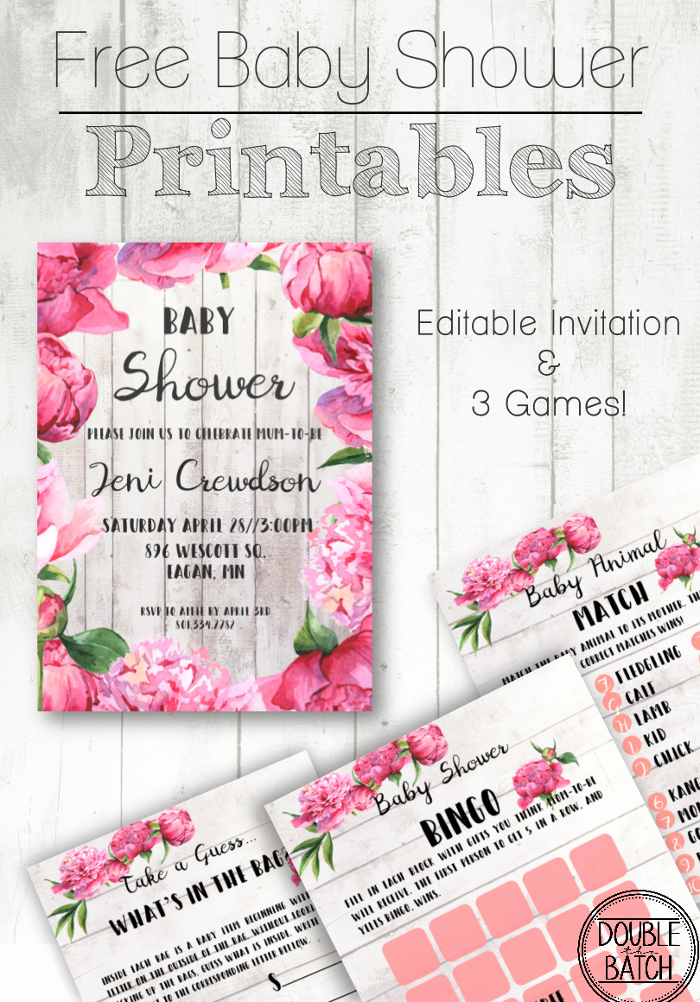 Free Baby Shower Templates Beautiful Free Baby Shower Printables