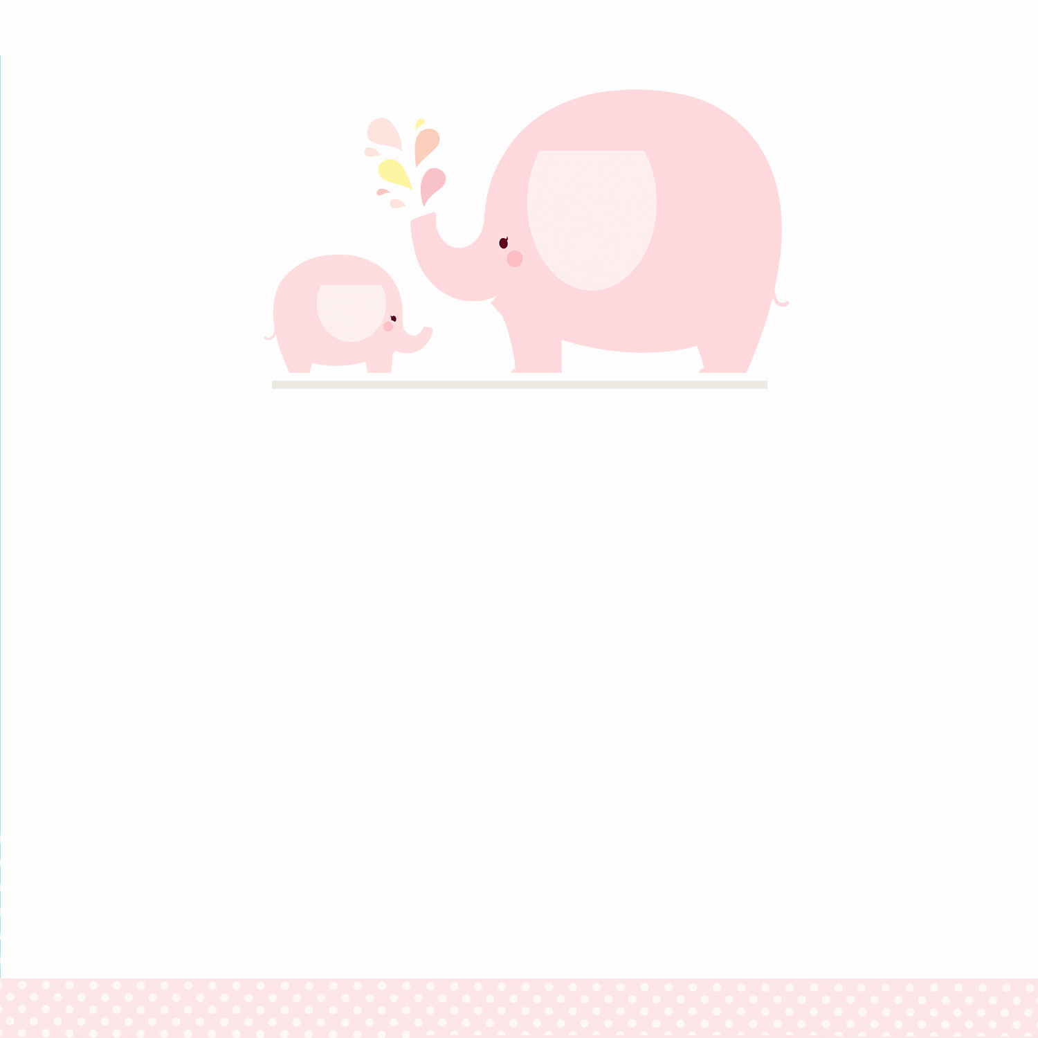 Free Baby Shower Templates Beautiful Pink Baby Elephant Free Printable Baby Shower Invitation