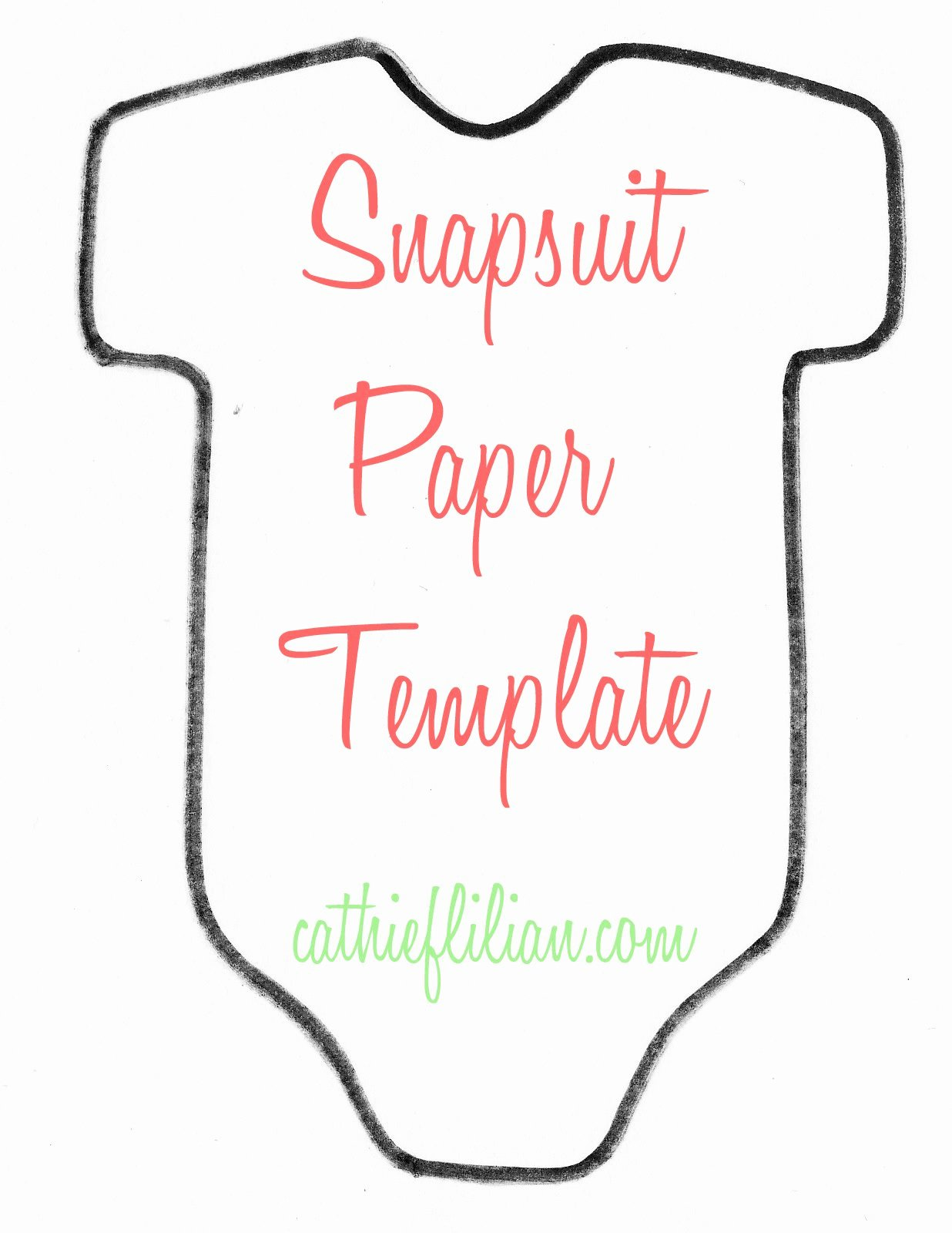Free Baby Shower Templates Best Of Cathie Filian Snapsuit Decorating Baby Shower Handmade