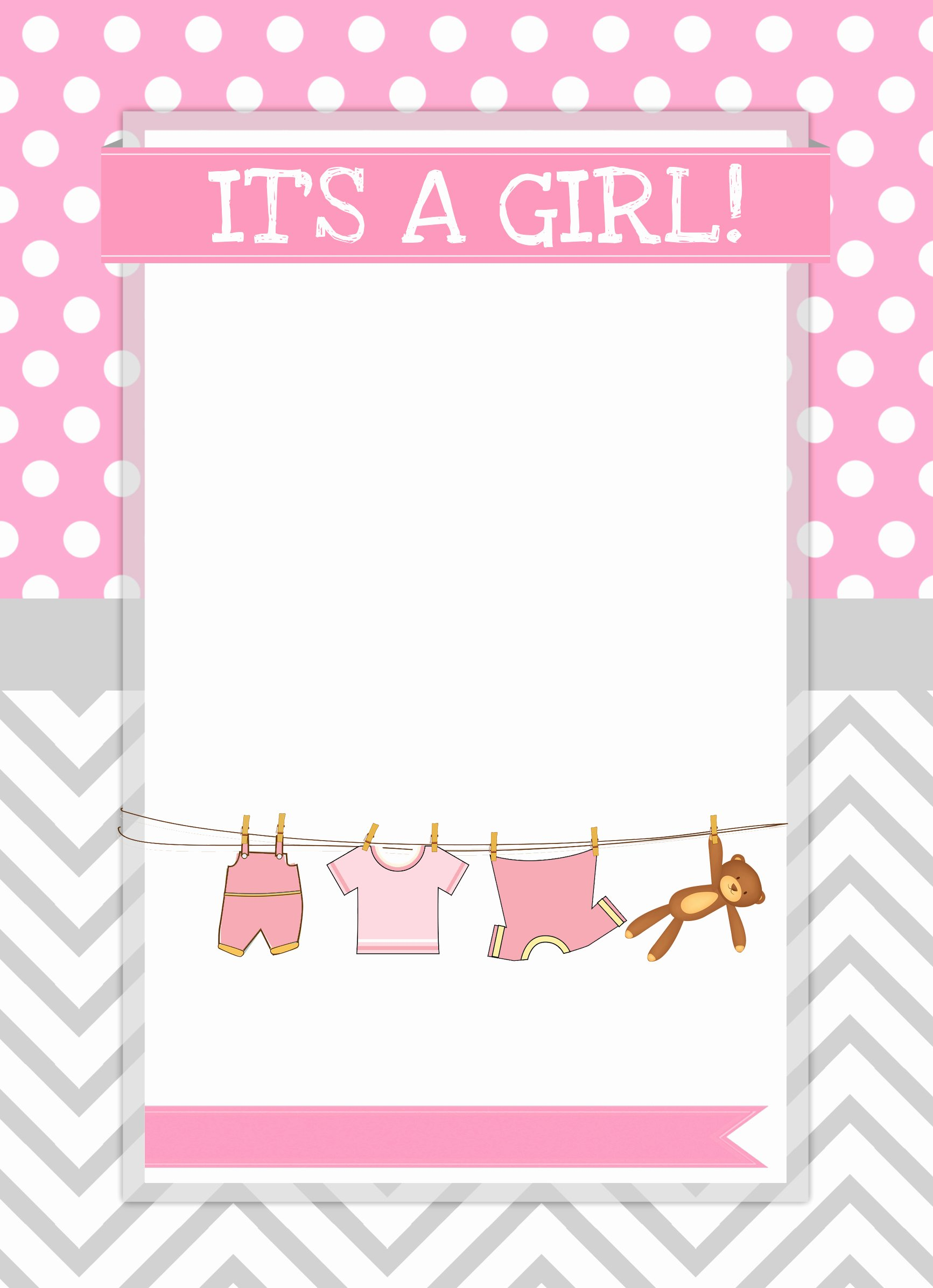 Free Baby Shower Templates Fresh Baby Girl Shower Free Printables How to Nest for Less™