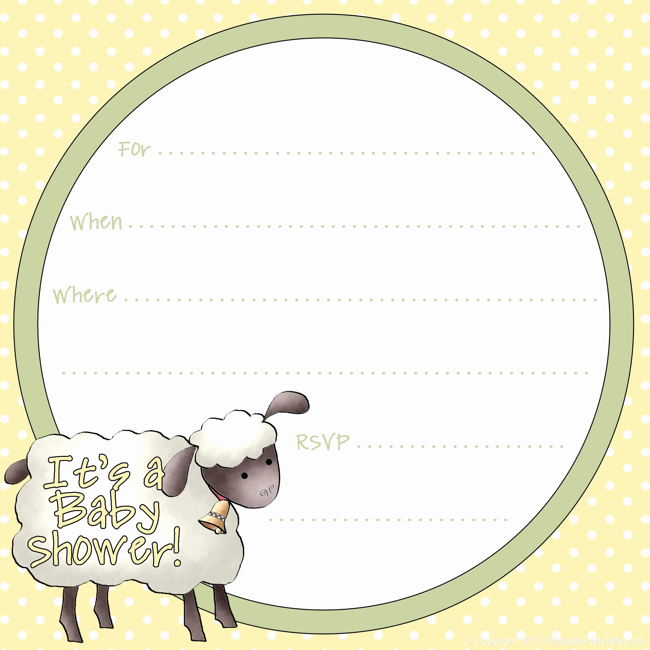 Free Baby Shower Templates Inspirational Free Sheep Printables