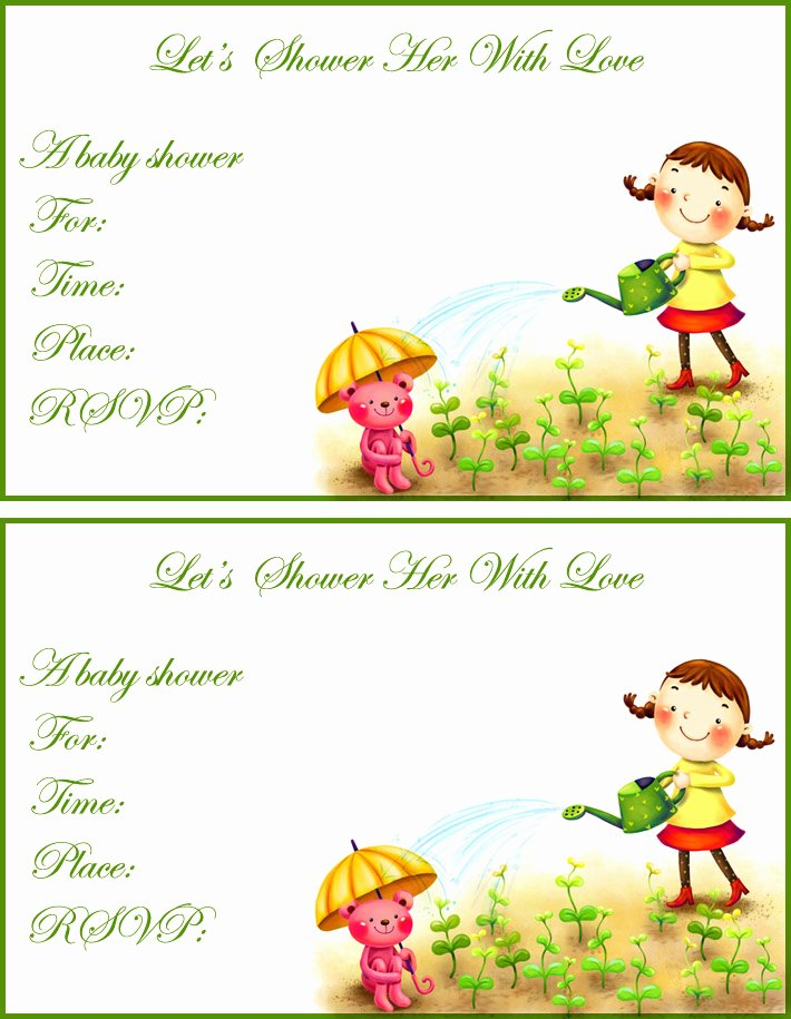 Free Baby Shower Templates Luxury Free Printable Baby Shower Invitations Templates