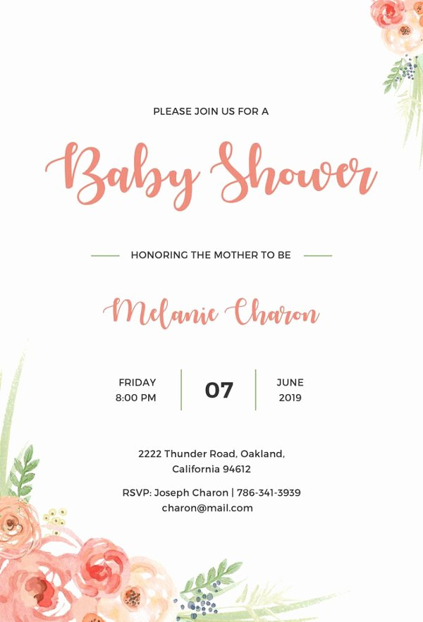 Free Baby Shower Templates New 22 Best Baby Shower Invitation Templates Editable Psd