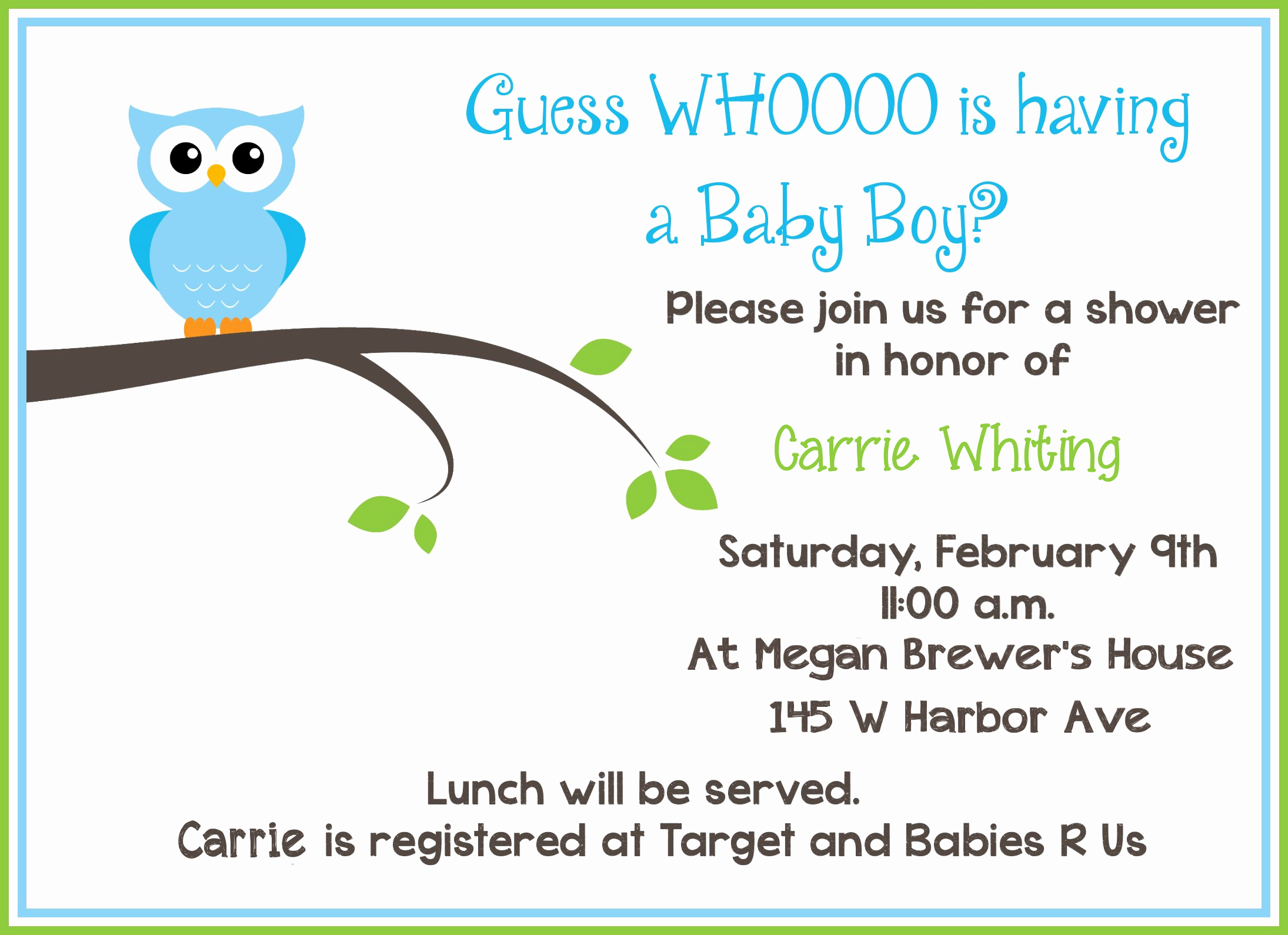 Free Baby Shower Templates New Blog
