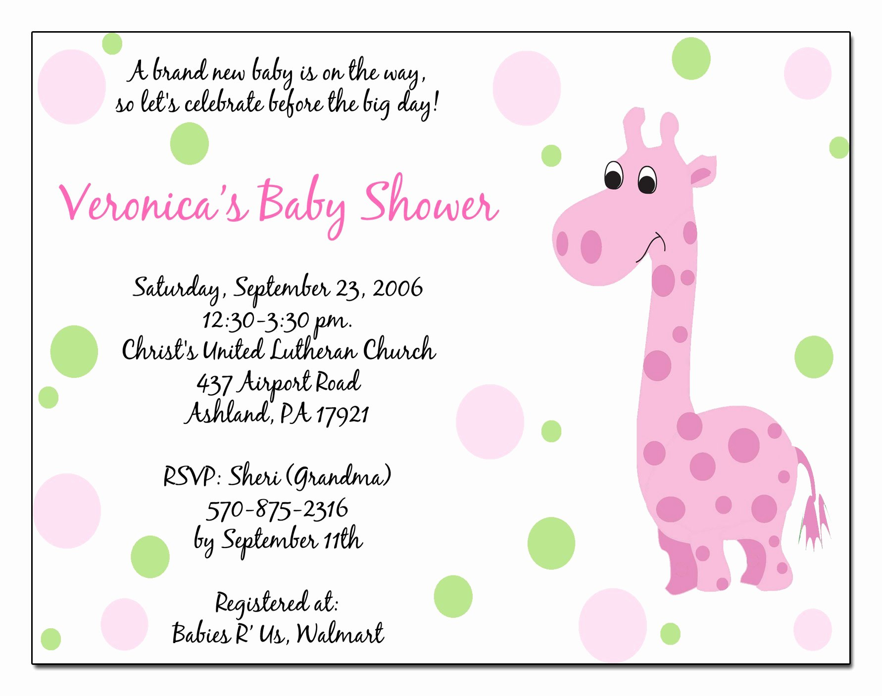 Free Baby Shower Templates Unique Baby Shower Invitation Free Baby Shower Invitation