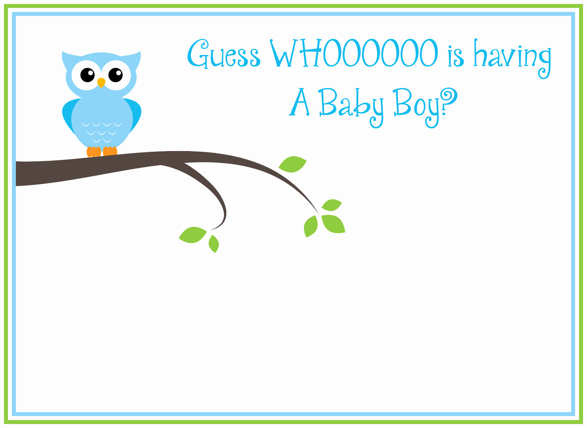 Free Baby Shower Templates Unique Free Printable Owl Baby Shower Invitations