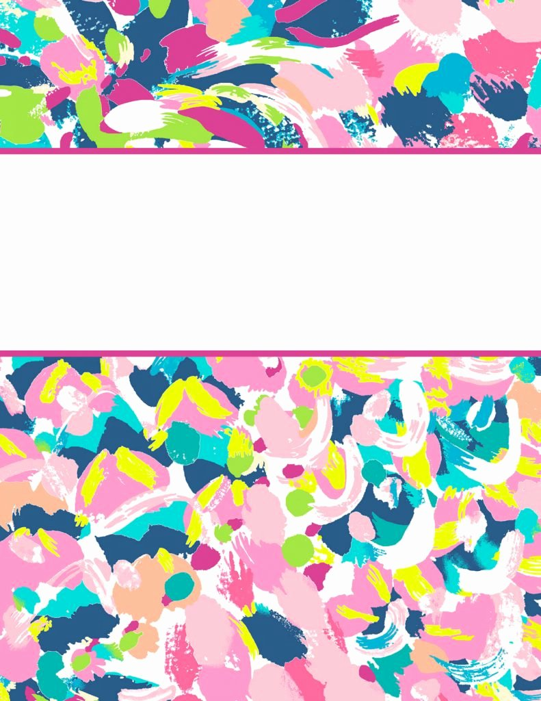 Free Binder Cover Templates Fresh Lilly Pulitzer Binder Covers 2017 — Free Cute Printable