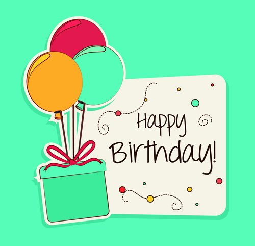 Free Birthday Card Templates Fresh Cartoon Style Happy Birthday Greeting Card Template 03