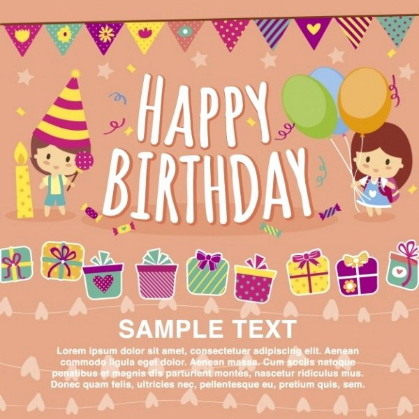 Free Birthday Card Templates Luxury 32 Kids Birthday Invitations & Ideas Psd Vector Eps