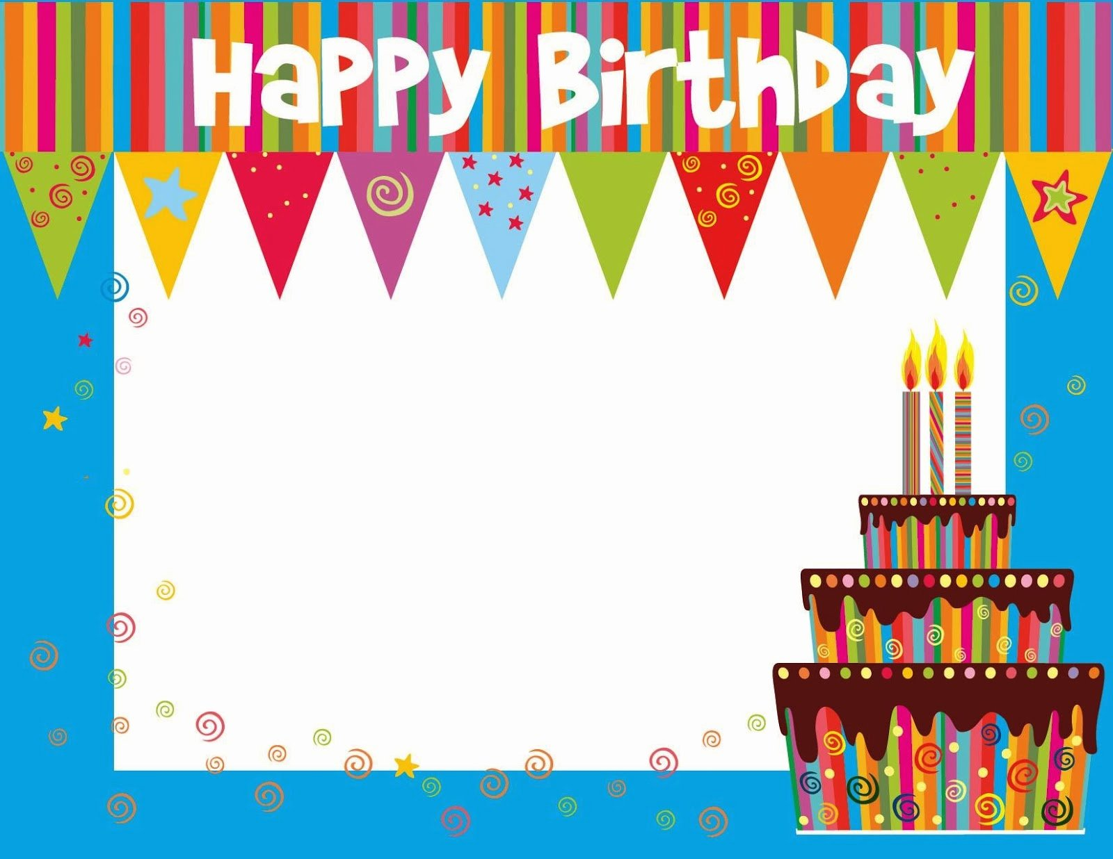 Free Birthday Card Templates New Free Printable Birthday Cards Ideas Greeting Card Template