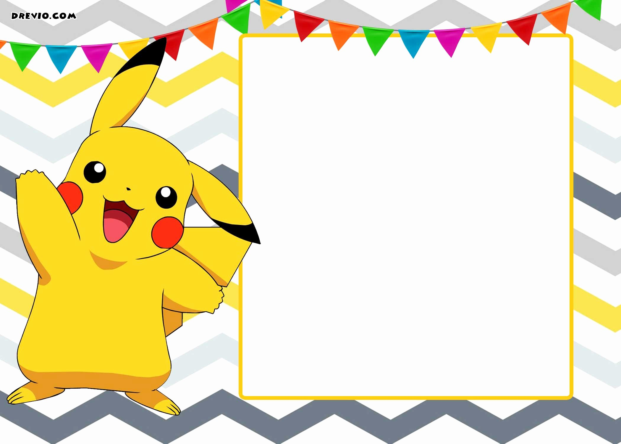 Free Birthday Card Templates Unique Free Printable Pokemon Invitation Templates Free