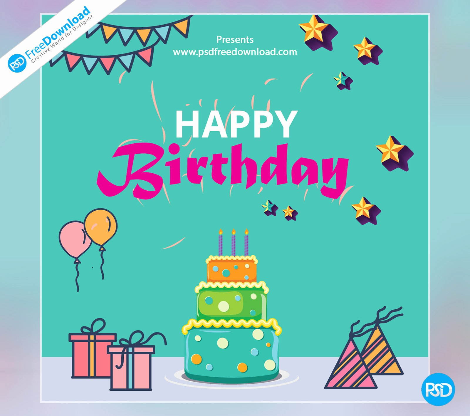 happy birthday template greeting card