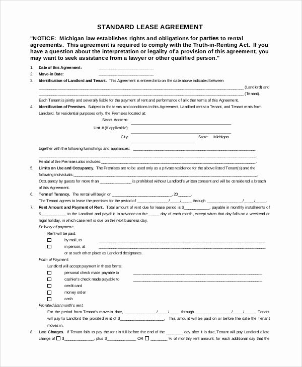 Free Blank Lease Agreement Awesome Sample Lease Agreement 11 Documents In Word Pdf