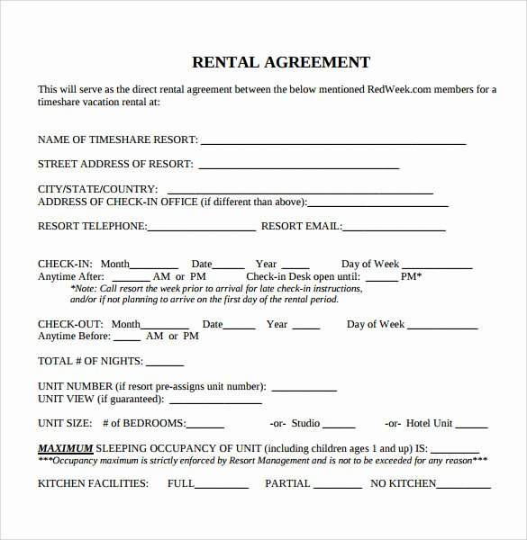 Free Blank Lease Agreement Beautiful Sample Blank Rental Agreement 8 Free Documents In Pdf