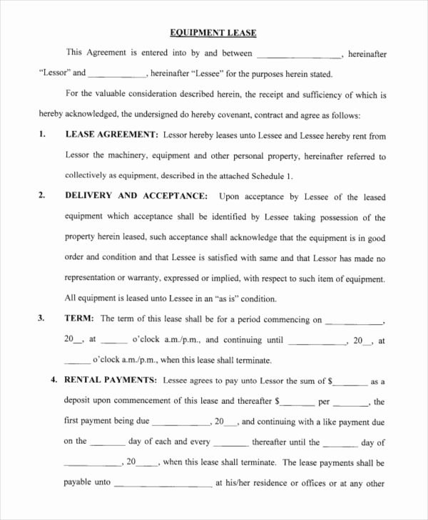 Free Blank Lease Agreement Fresh Printable Blank Lease Agreement form 19 Free Word Pdf