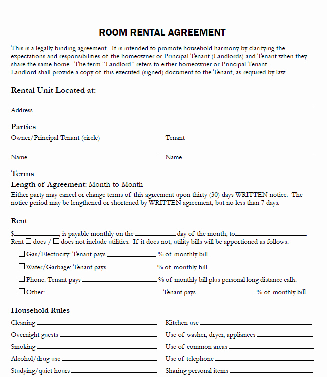 Free Blank Lease Agreement Inspirational Free Printable Rental Agreements