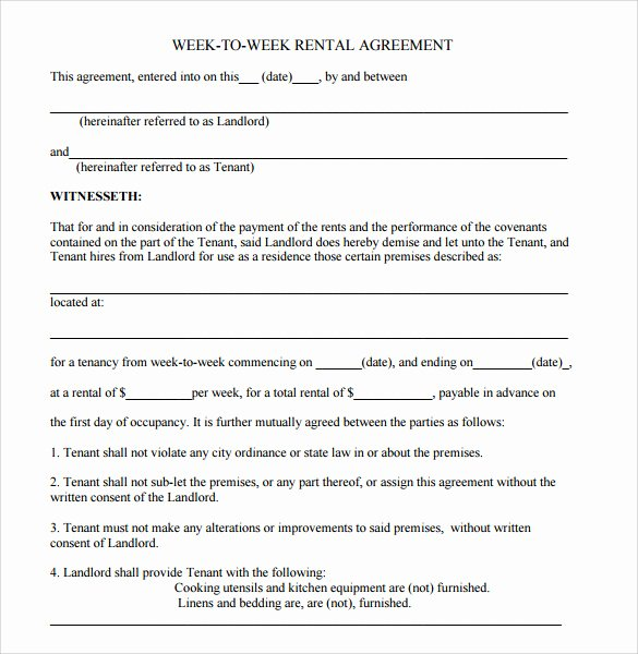 Free Blank Lease Agreement Luxury Sample Blank Rental Agreement 8 Free Documents In Pdf