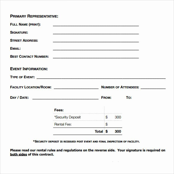 Free Blank Lease Agreement New Blank Rental Agreement – 7 Free Samples Examples & formats