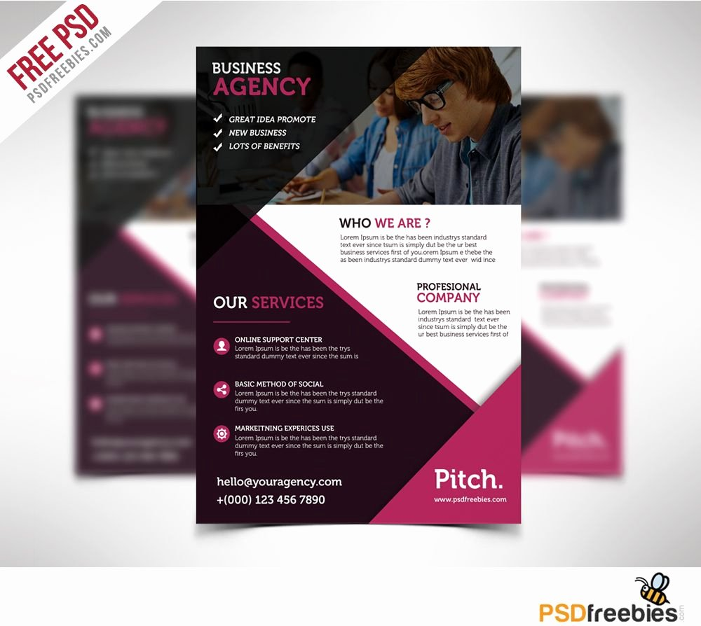 Free Business Flyer Templates Awesome Clean and Professional Business Flyer Free Psd