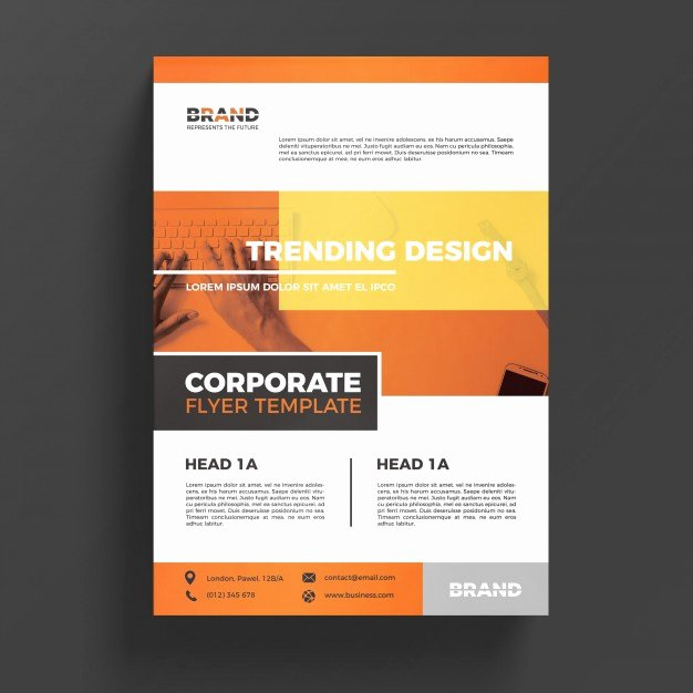 Free Business Flyer Templates Awesome orange Corporate Business Flyer Template Psd File