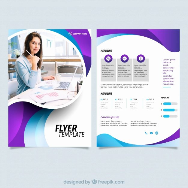 Free Business Flyer Templates Beautiful Template Line Vectors S and Psd Files