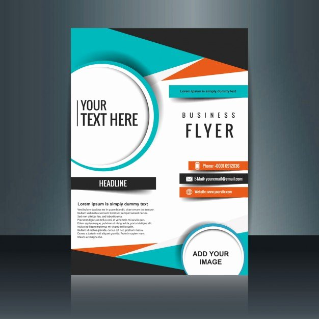 Free Business Flyer Templates Elegant Business Flyer Template with Geometric Shapes Vector