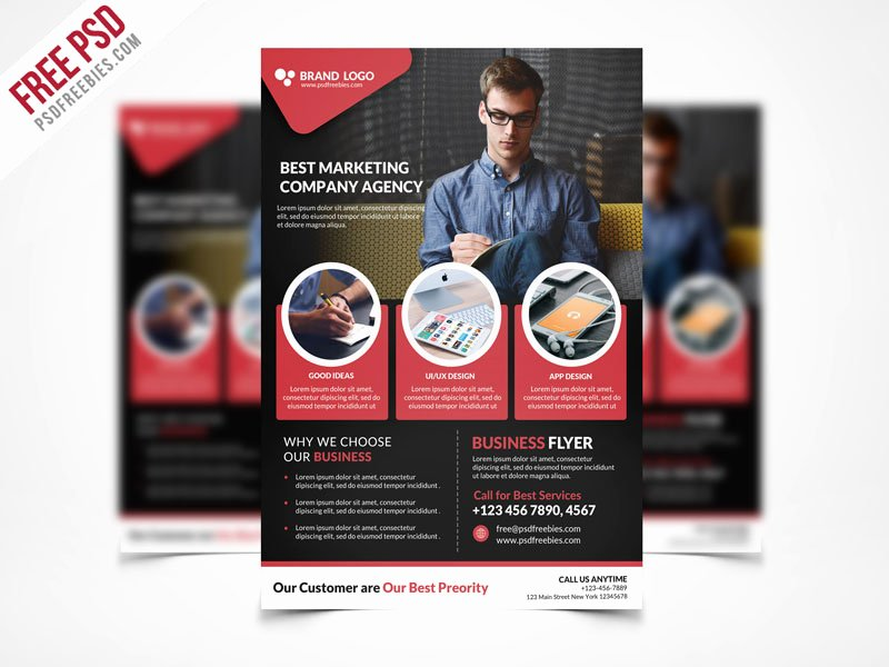 Free Business Flyer Templates Elegant Free Psd Corporate Business Flyer Template Psd On Behance