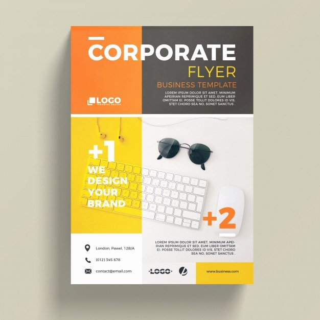 Free Business Flyer Templates Elegant Modern Corporate Business Flyer Template Psd File